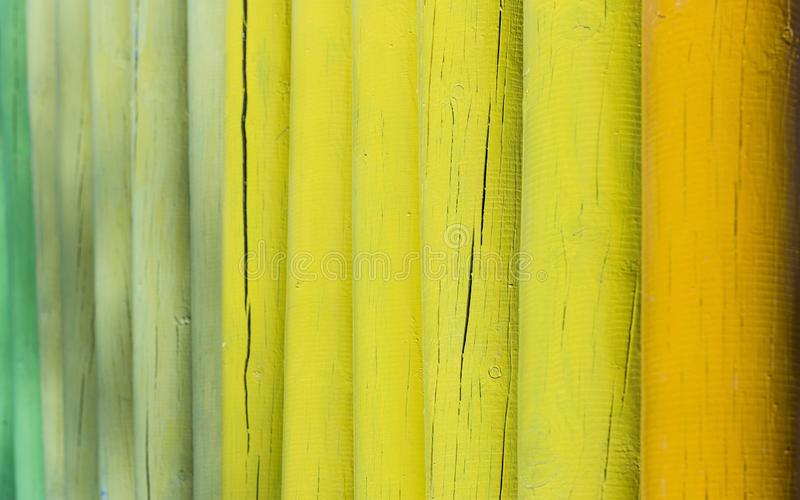 Fermeture d'une clôture en bois avec focus sélectif photo stock