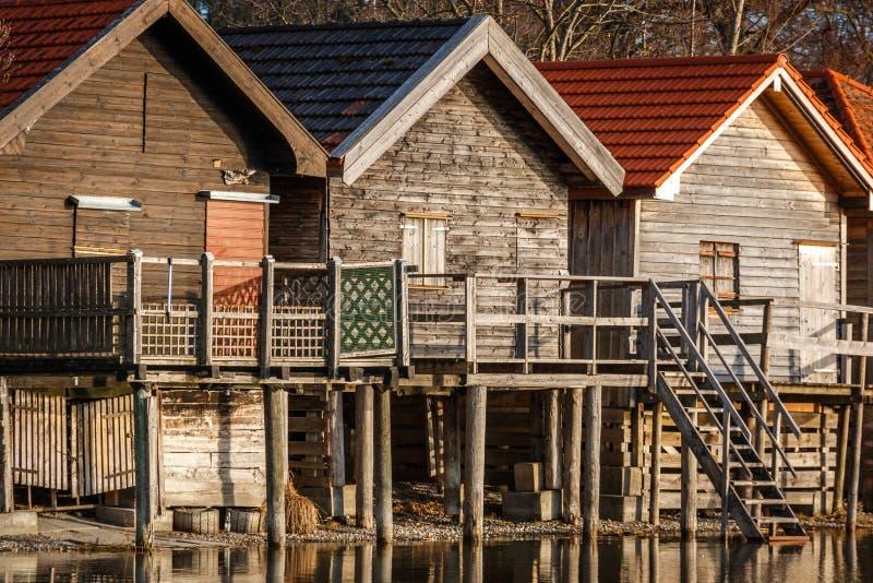 Fermeture d'une maison de lac à Stegen à l'Ammersee en Bavière, Allemagne photos libres de droits