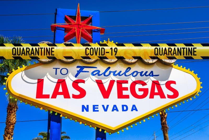 Fermeture de Las Vegas photo libre de droits