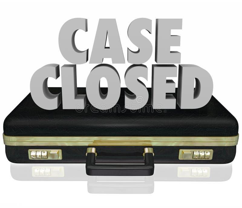 Fermeture fermée De final de fin de règlement de procès de serviette de cas illustration de vecteur