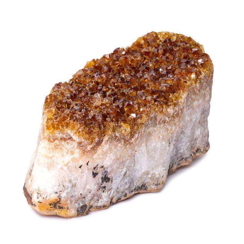 Fermeture minérale de la citrine Arrière-plan de Gemstone images stock