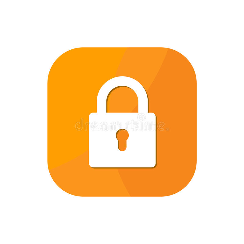 Fermez à clef l'icône d'APP illustration de vecteur
