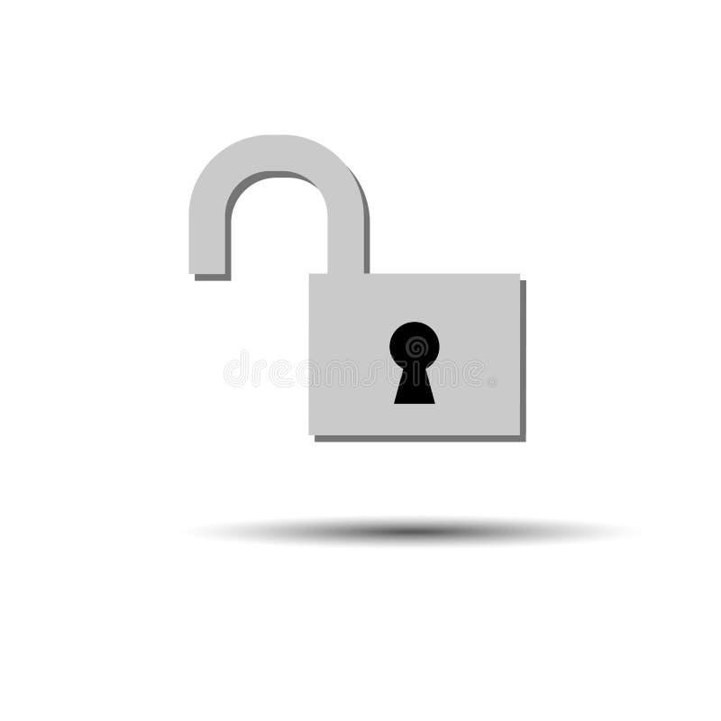 Fermez à clef la couleur ouverte-fermée de vecteur d'icône nouvelle illustration libre de droits