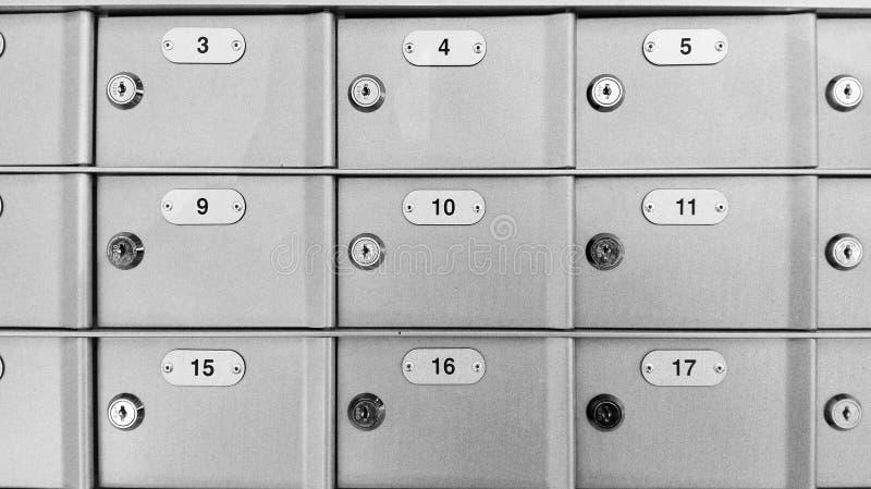 Fermez à clef le compartiment de coffre-fort photographie stock