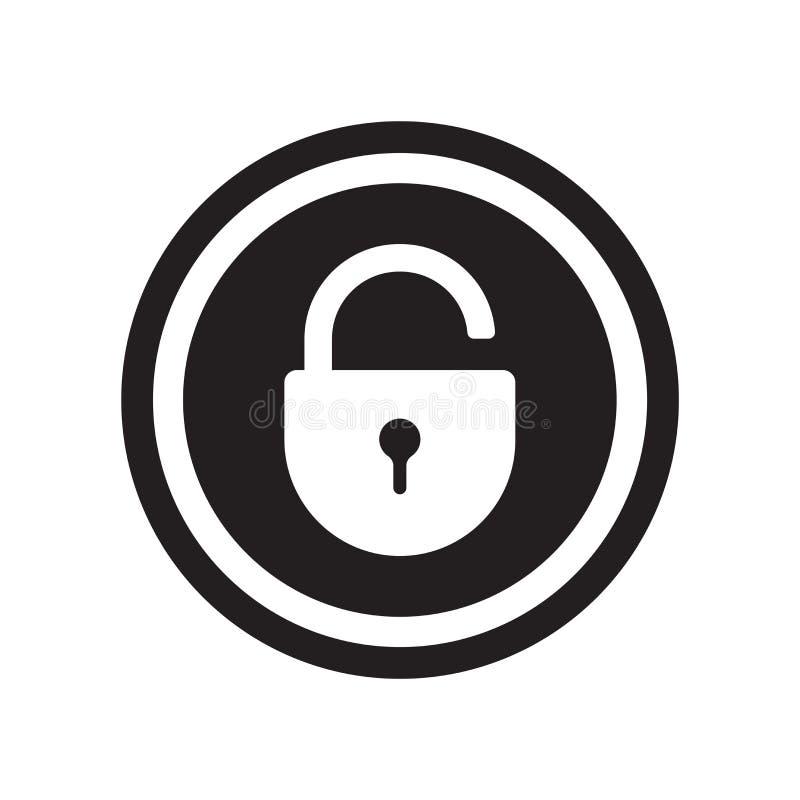 Fermez à clef le vecteur d'icône d'isolement sur le fond blanc, fermez à clef le signe illustration stock