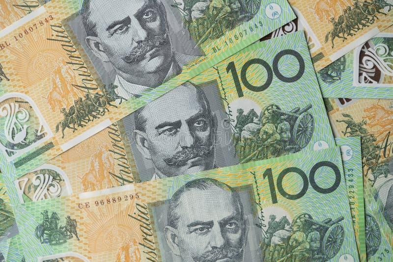 Fermez de l'Australien cent billets d'un dollar photos libres de droits