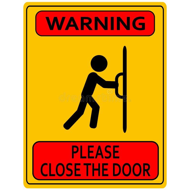 Fermez le signe de porte illustration libre de droits