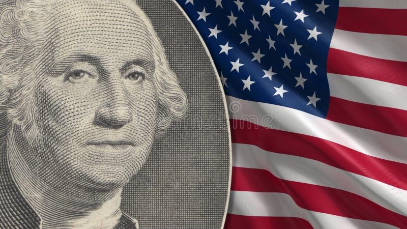 Fermez-vous chez George Washington Portrait photos stock