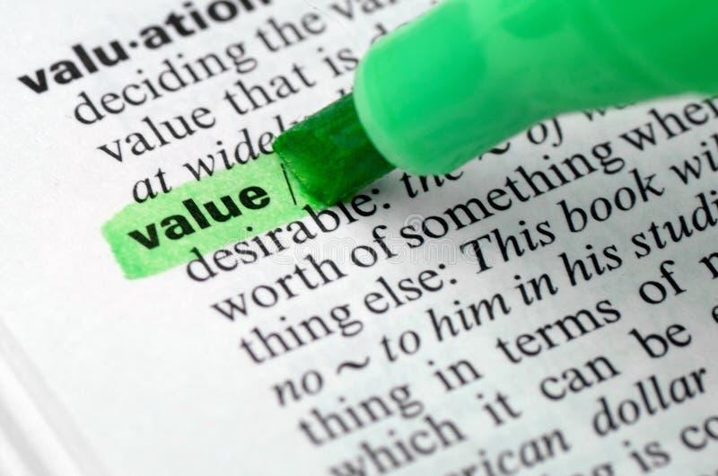 Fermez-vous d'accentuer la valeur spécifique de Word dans a images libres de droits