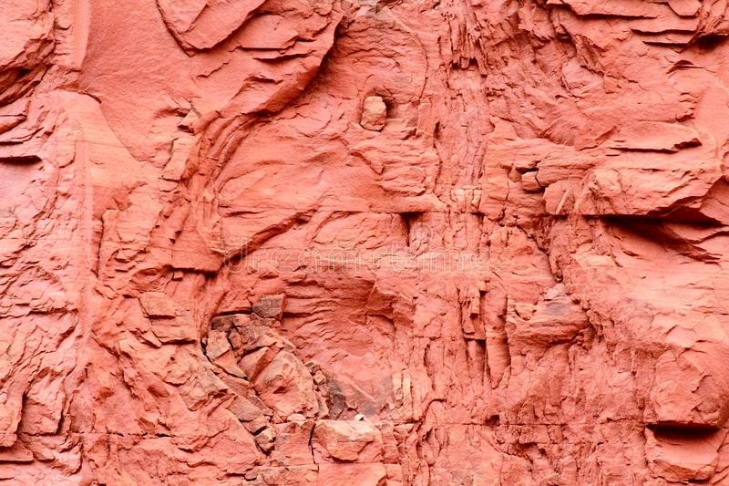 Fermez-vous d'un mur de falaise en Utah photographie stock