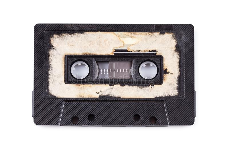 Fermez-vous d'une bande audio de vintage photo stock