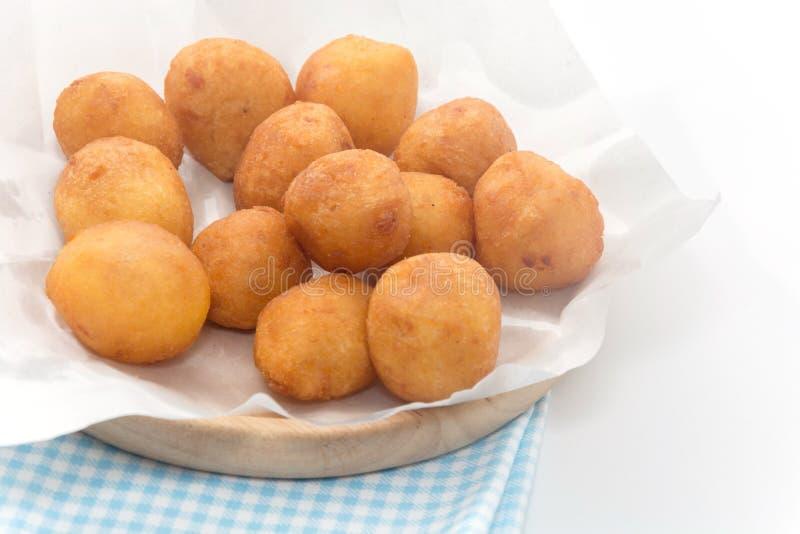 Fermez-vous de Fried Sweet Potato Balls images stock