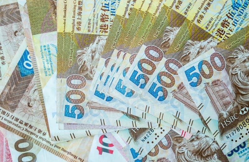 Fermez-vous de Hong Kong Banknote images stock
