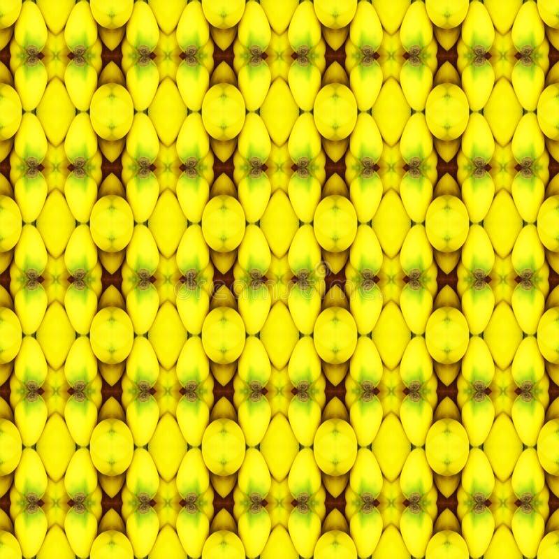 Fermez-vous de la banane mûre, couleur d'or sans couture illustration libre de droits