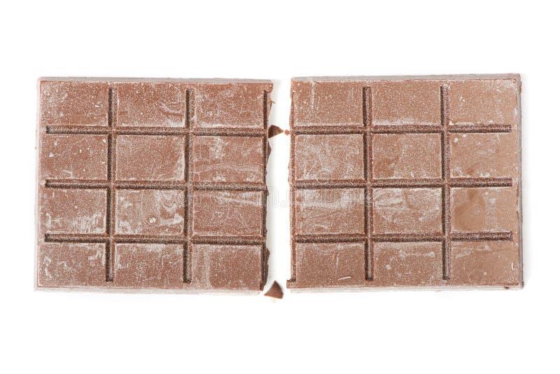 Fermez-vous de la barre de chocolat de segment photo libre de droits
