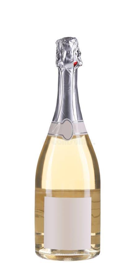 Fermez-vous de la bouteille rose de champagne. photo libre de droits