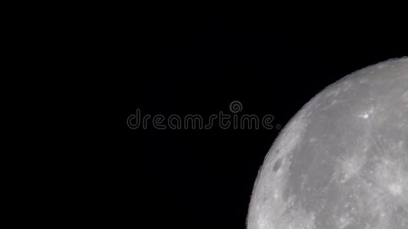 Fermez-vous de la lune images libres de droits