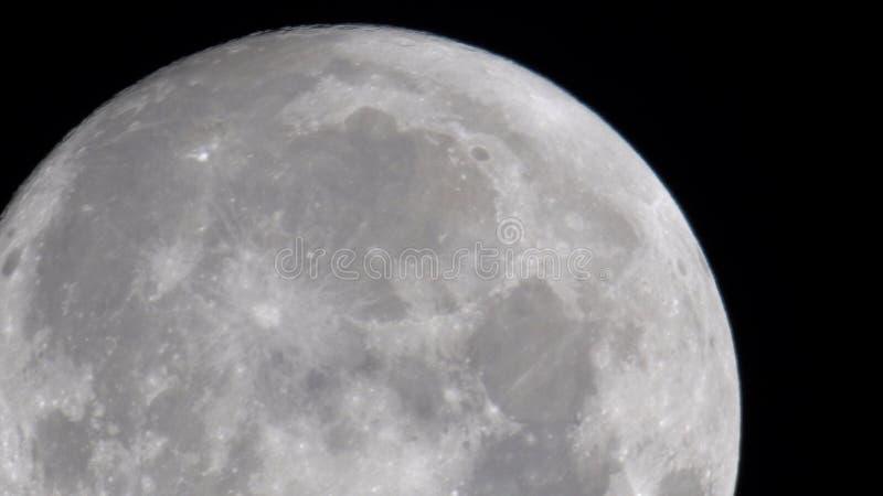 Fermez-vous de la lune image stock