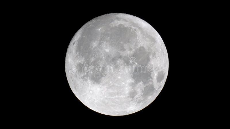 Fermez-vous de la lune photographie stock libre de droits