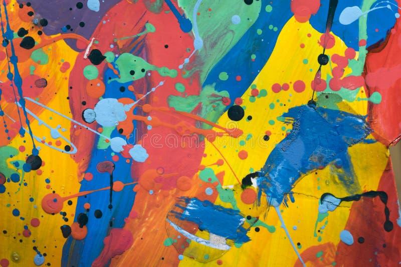 Fermez-vous de la peinture simplement abstraite colorée photographie stock