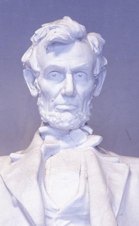 Fermez-vous de la sculpture en Lincoln Memorial, Washington, C.C photos stock