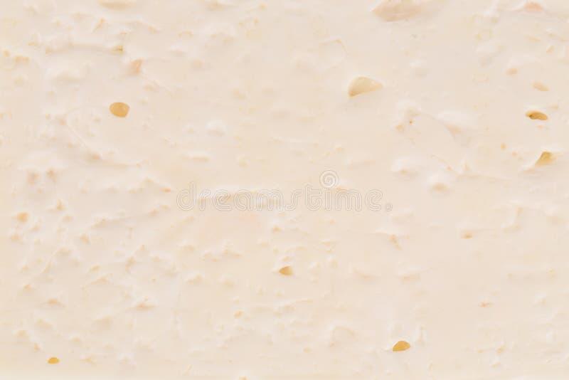 Fermez-vous de la texture blanche de crème glacée  images stock