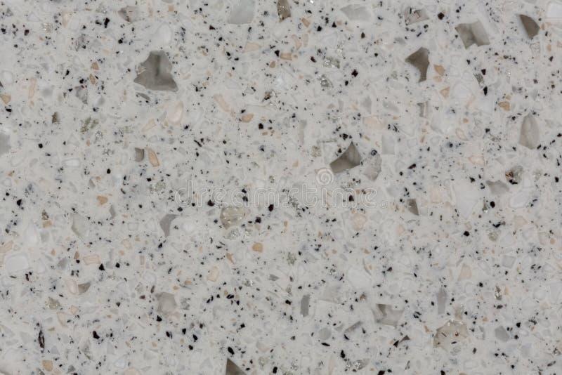 Fermez-vous de la texture de marbre artificielle grise photos stock