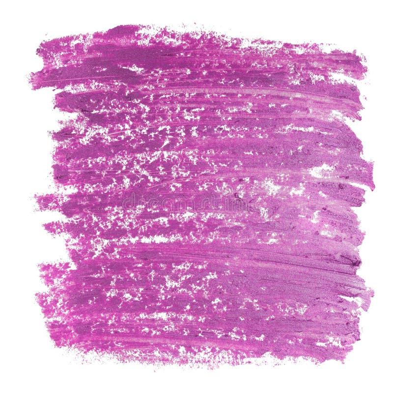 Fermez-vous de la texture pourpre de rouge à lèvres d'isolement photo libre de droits