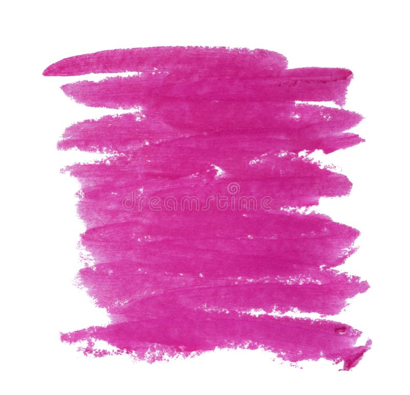 Fermez-vous de la texture pourpre de rouge à lèvres d'isolement images libres de droits