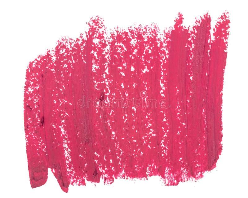 Fermez-vous de la texture rose de rouge à lèvres image stock