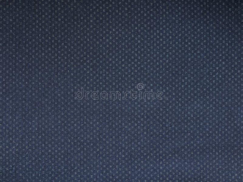 Fermez-vous de la texture de toile bleu-foncé, utile comme photo de fond photographie stock