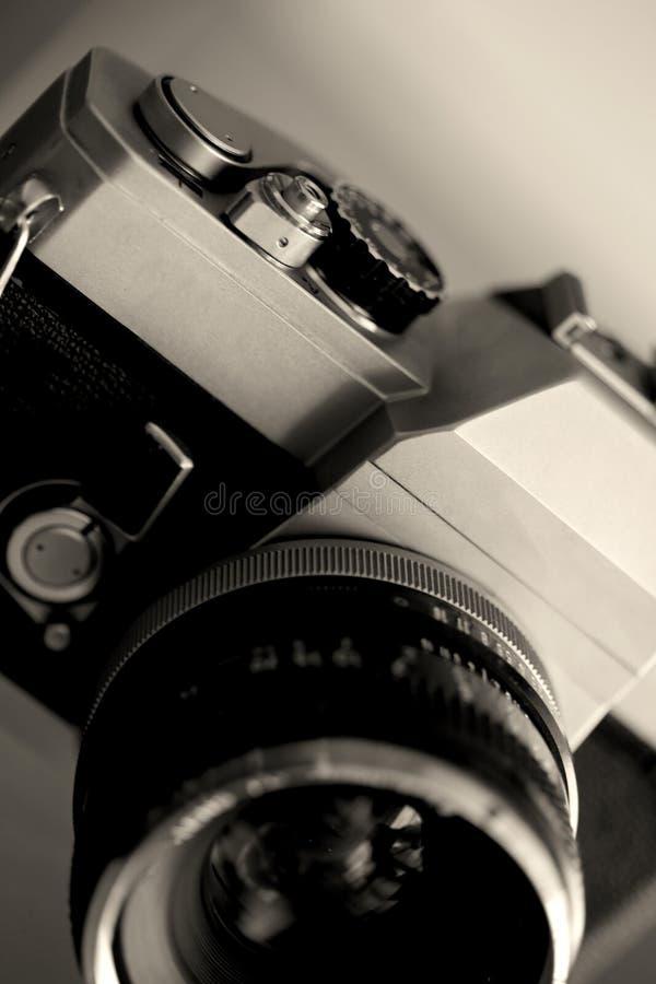 Fermez-vous de la vieille caméra de photographie de cru photo libre de droits