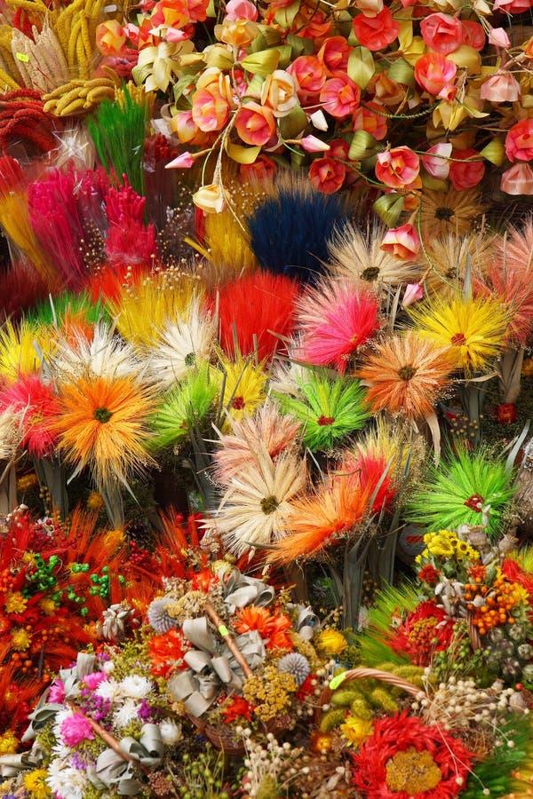Fermez-vous des fleurs sèches photographie stock libre de droits