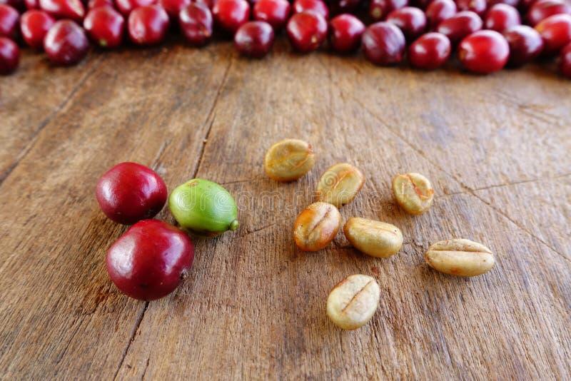 Fermez-vous des grains de café frais photographie stock