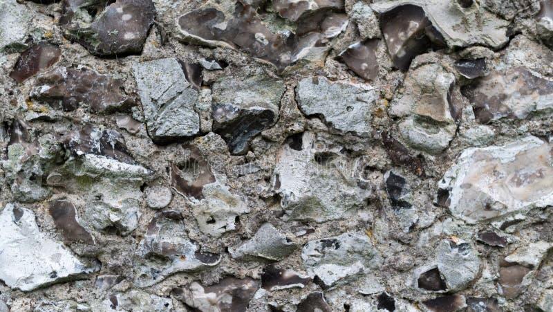 Fermez-vous des roches cisaillées images stock