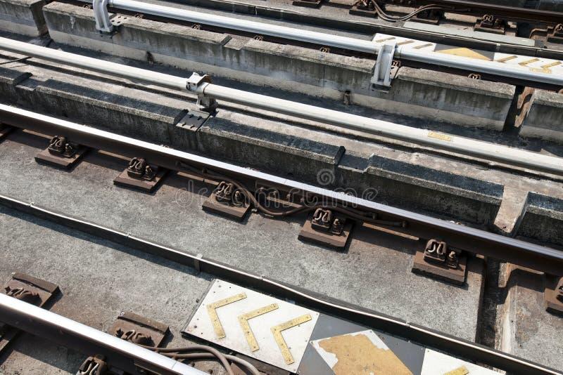 Fermez-vous des voies de chemin de fer photos libres de droits