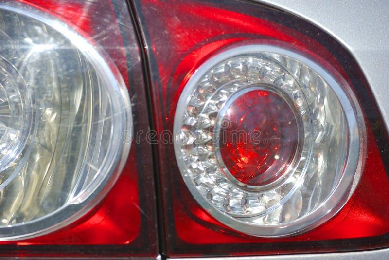 Fermez-vous du contre-jour de voiture photographie stock libre de droits