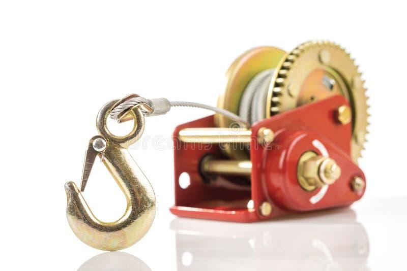 Download Fermez-vous Du Crochet De Treuil De Main Image stock - Image du fond, poulie: 45368405