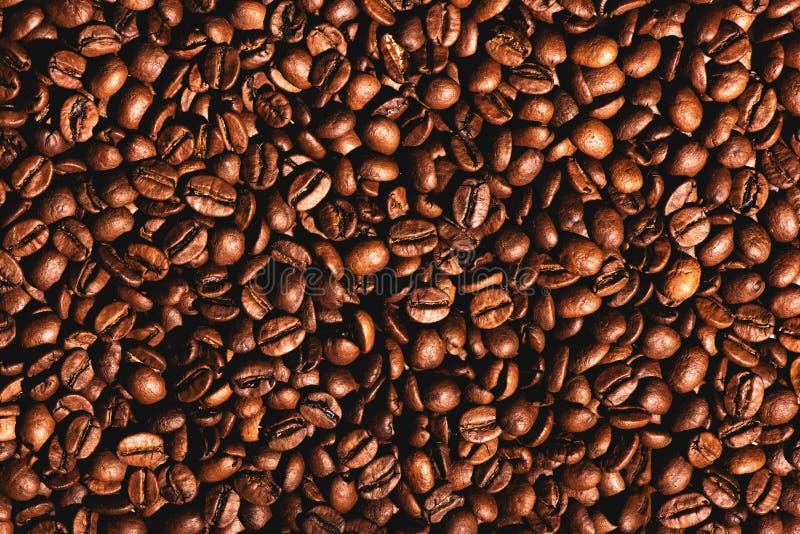 Fermez-vous du fond de texture de grains de café photos libres de droits