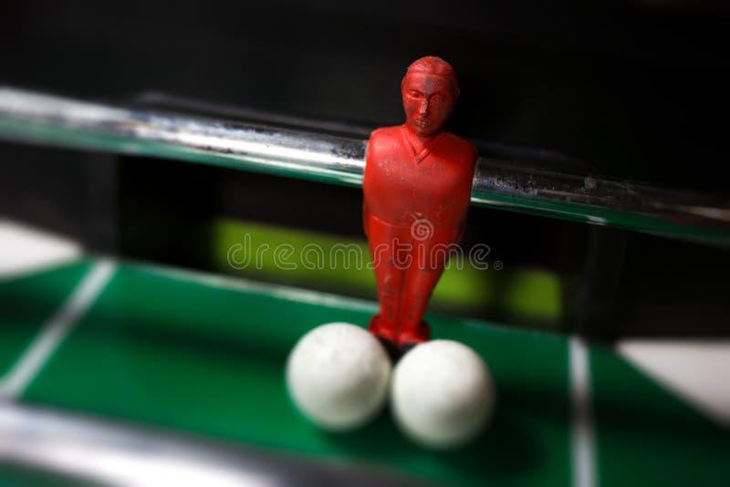 Fermez-vous du football de table photos stock