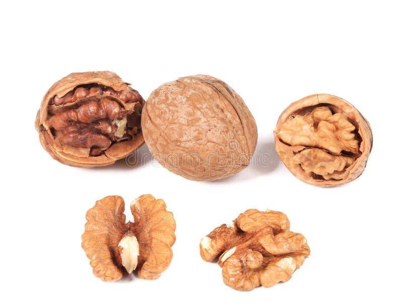 Fermez-vous du groupe de noix. photos libres de droits