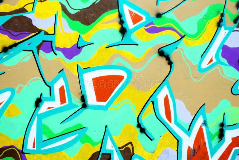 Fermez-vous du mur de graffiti images libres de droits