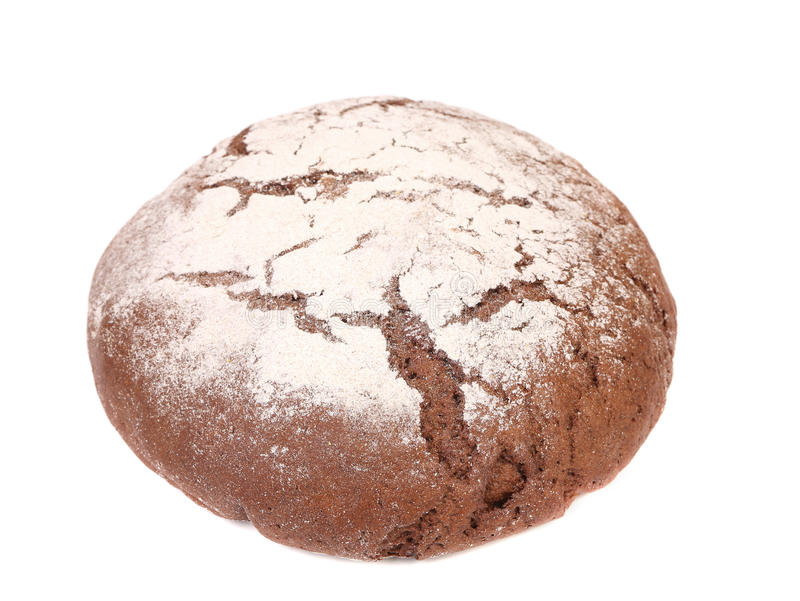 Fermez-vous du pain rond brun images stock