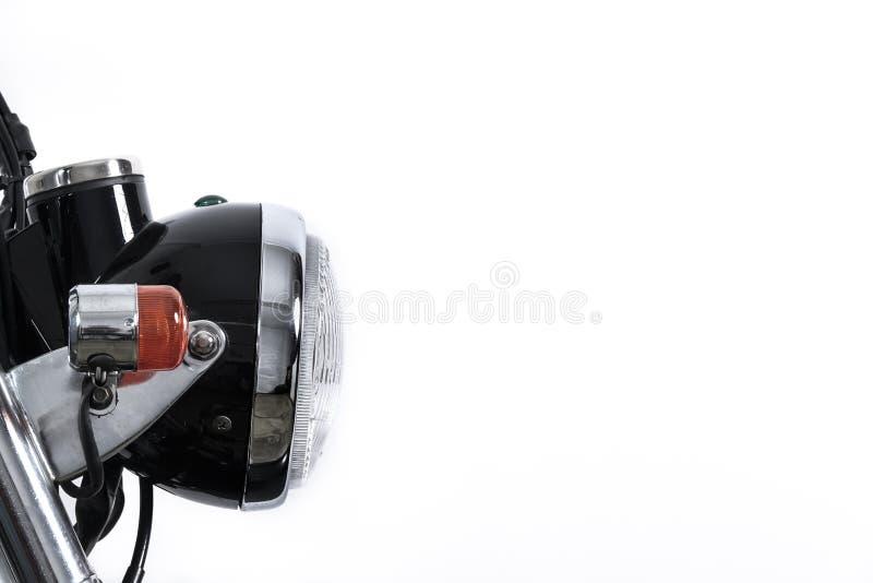 Fermez-vous du phare sur la moto de vintage Brouilleur fait sur commande MOIS image libre de droits