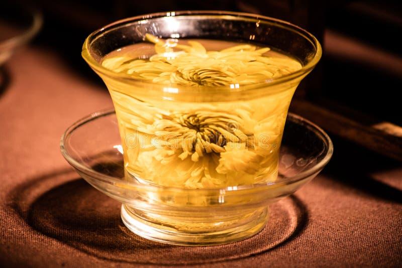 Fermez-vous du thé de chrysanthème photo stock