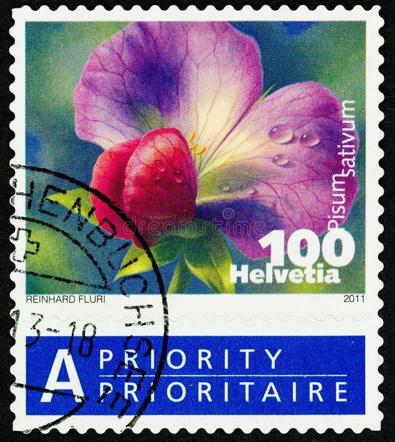 Fermez-vous du timbre suisse prioritaire photo libre de droits