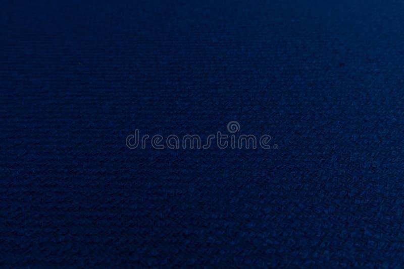 Fermez-vous du tissu bleu avec le fond de texture de textile illustration libre de droits