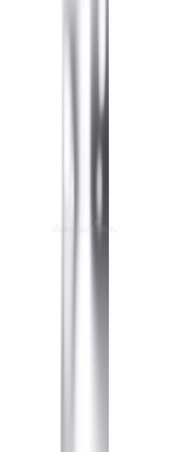 Fermez-vous du tuyau brillant en métal sur le fond blanc illustration 3D illustration libre de droits