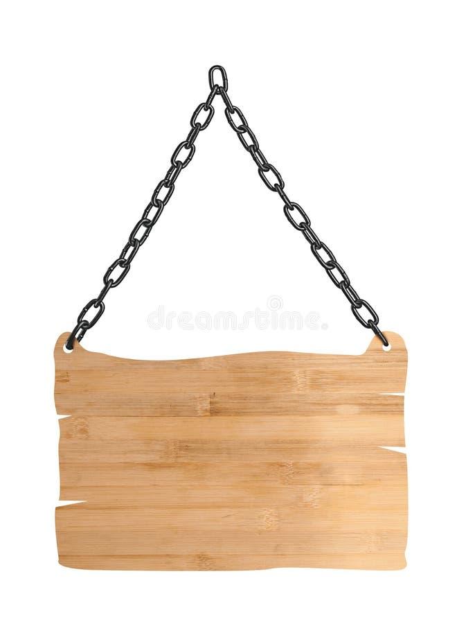 Fermez-vous vers le haut d'un en bois vide se connectent le fond blanc photos libres de droits