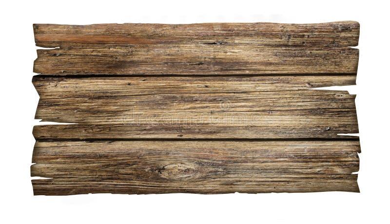 Fermez-vous vers le haut d'un signe en bois vide photographie stock